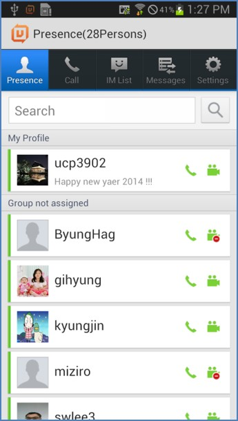 LG iPecs UCS App, Android